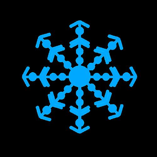 bow snowflake snow