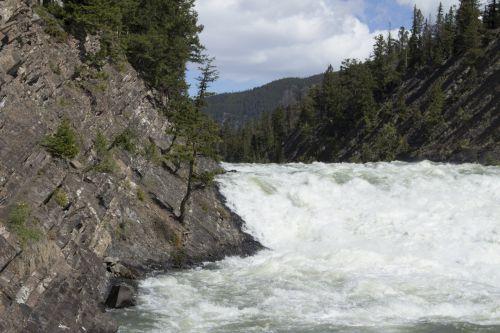 Bow Falls Banff Alberta Mountains