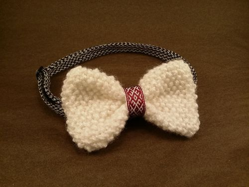 bow tie knitted bow