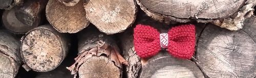 bow tie kniten handmade