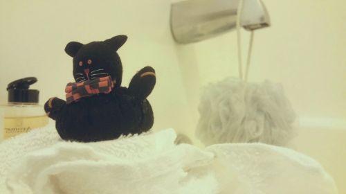 Bow Tie Kitty Bath