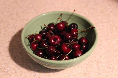 bowl  vintage  cherries
