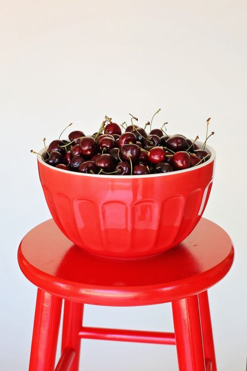 bowl of cherries cherries red