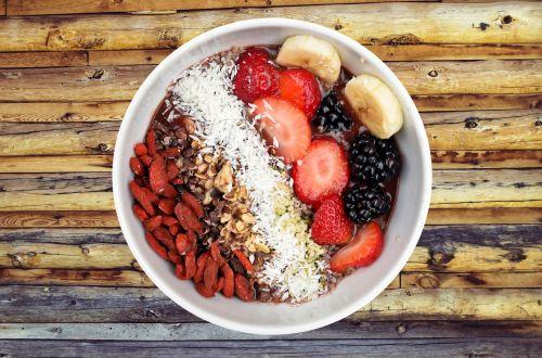 bowl of fruit breakfast food