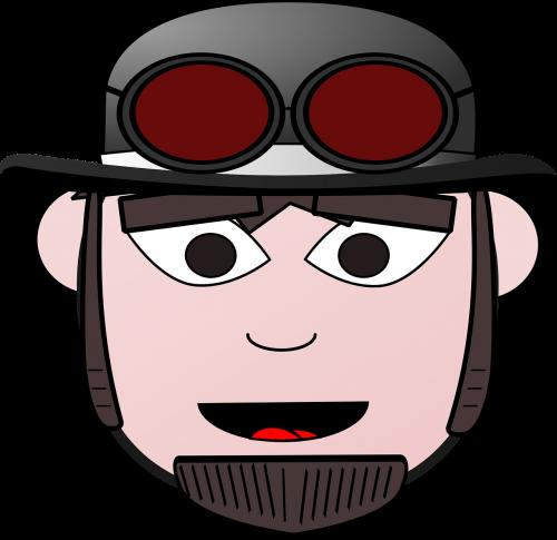 bowler comic characters dress-up head