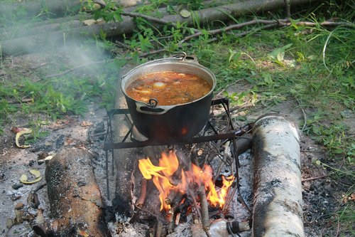 bowler  food  bonfire