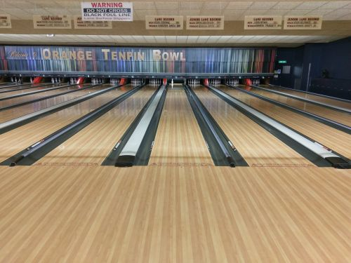 bowling bowling alley lanes