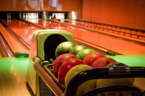 bowling alley balls