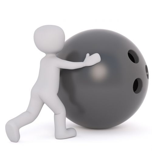bowling ball bowling ball holes white male