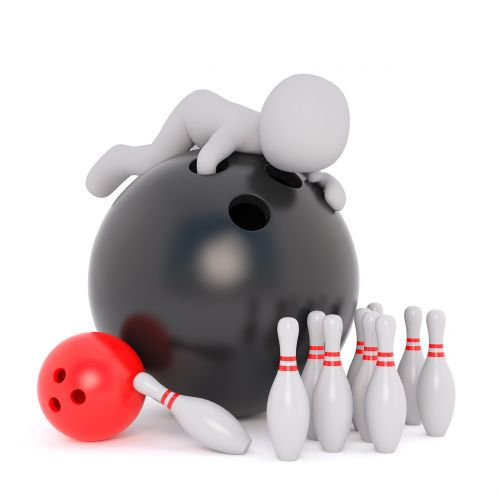 bowling ball white male 3d model