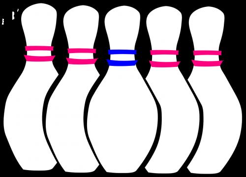 bowling pins set bowling