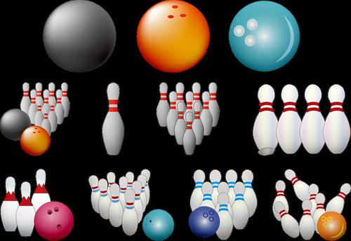 bowling pins  bowling ball  bowling