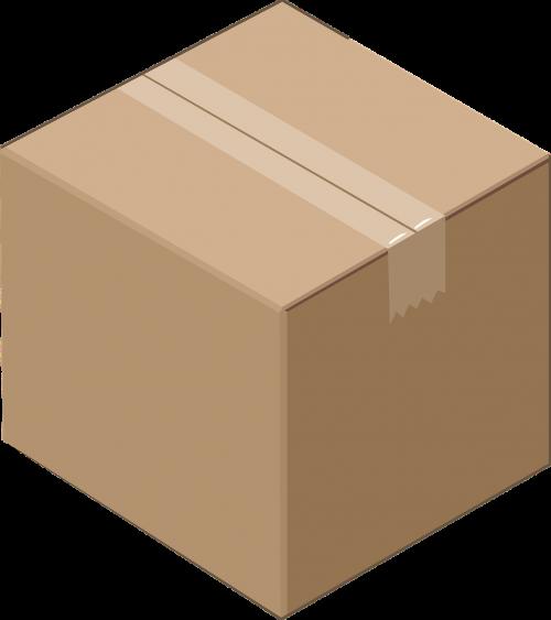 box cardboard cube