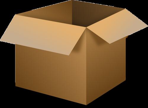 box open cardboard box
