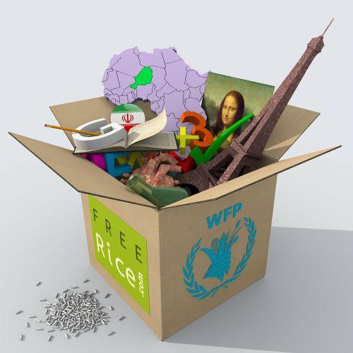 box cardboard map