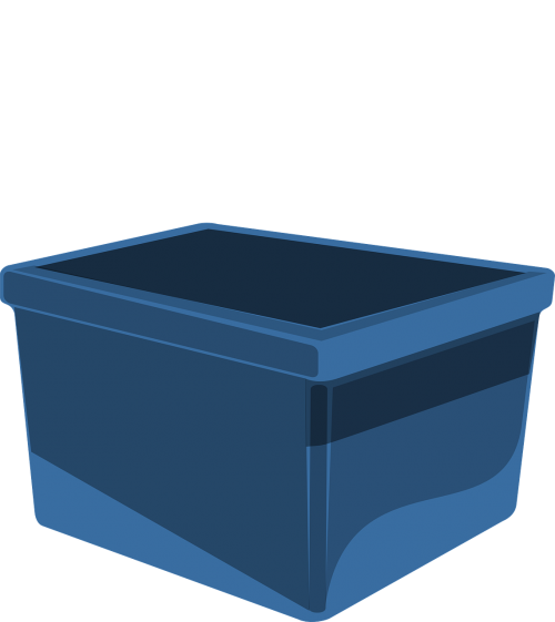 box blue storage