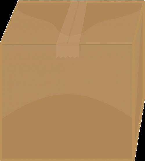 box cardboard closed