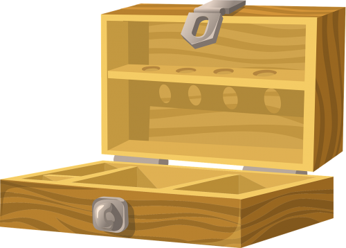 box wooden opened