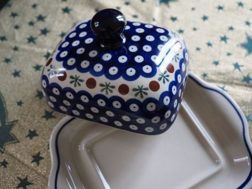 box butter dish porcelain