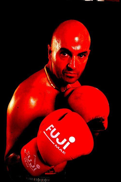 boxer man red