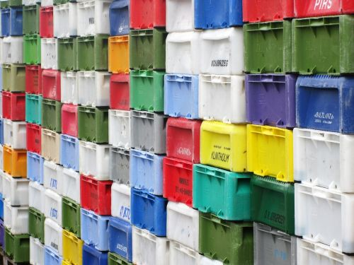 boxes port colorful