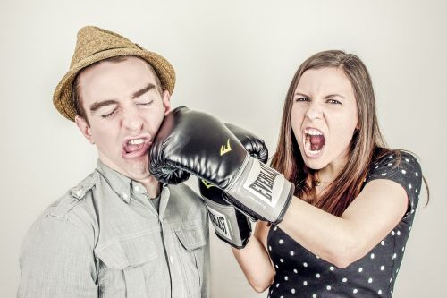 boxing glove fighting