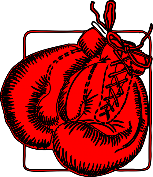 boxing gloves boxing red