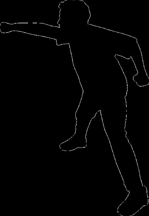 boy fight silhouette