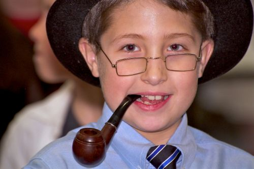 boy pipe glasses