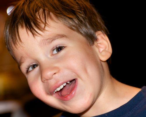 boy angle smiling