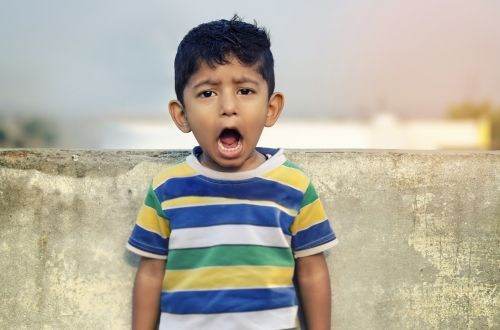 boy child shouting
