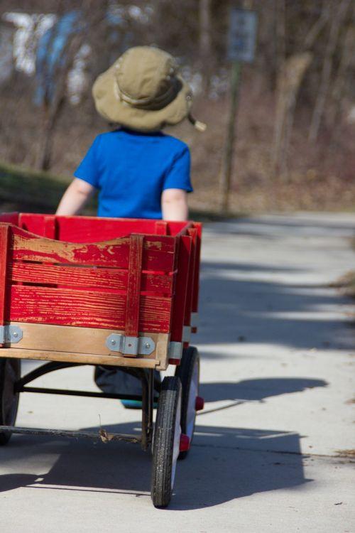 boy wagon outdoor