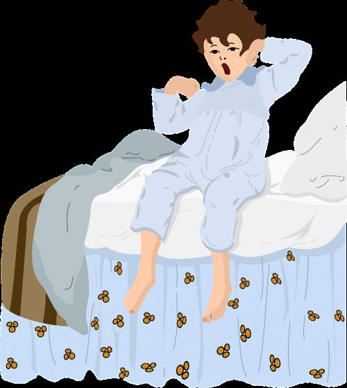 boy awakening pajamas