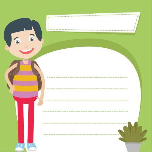 boy paper students