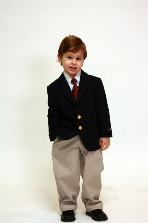 boy portrait suit