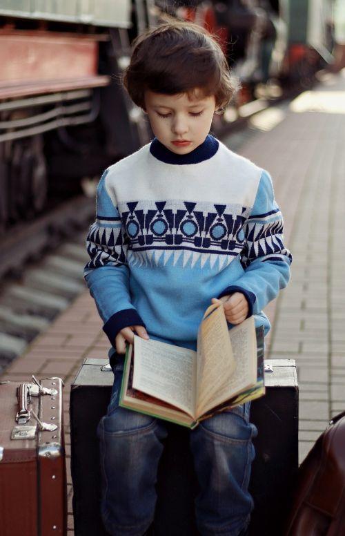 boy book train