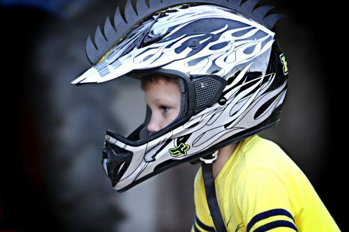 boy head helmet