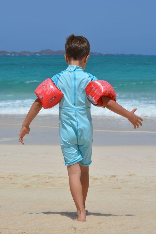 boy beach sea