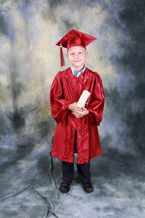 boy graduation kindergarten