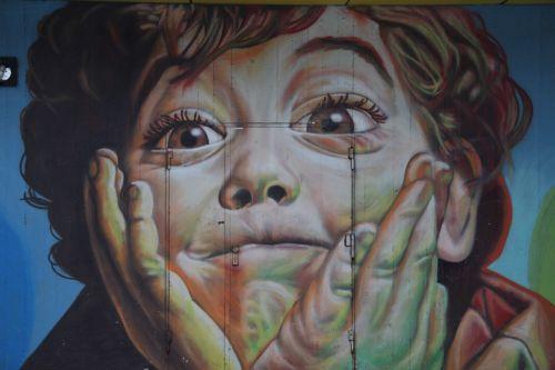 boy graffiti face