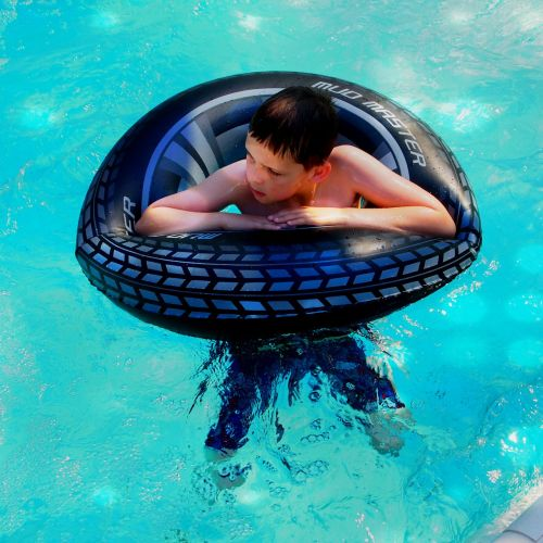 boy swimming band swimming pool