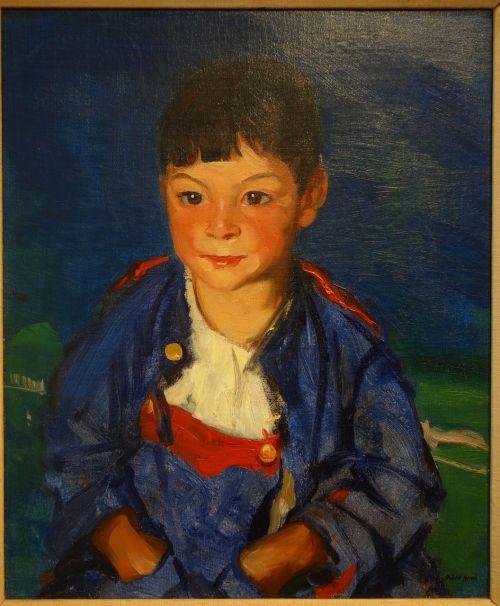 boy oil canvas