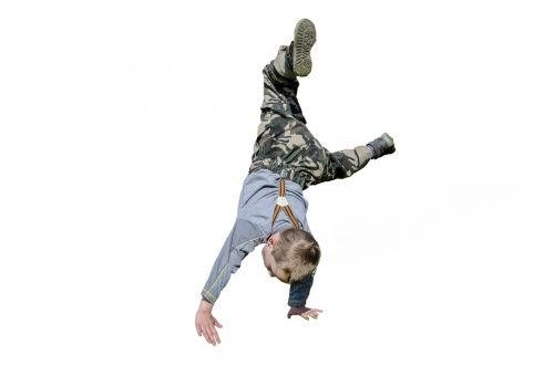 Boy Gymnastic Acrobatics  Posture