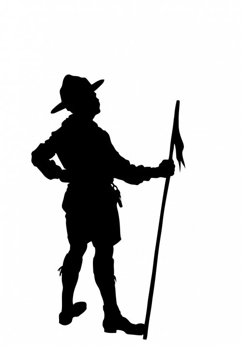 Boy Scout Silhouette Clipart