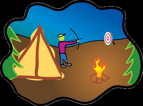 boy scouts target practice archery