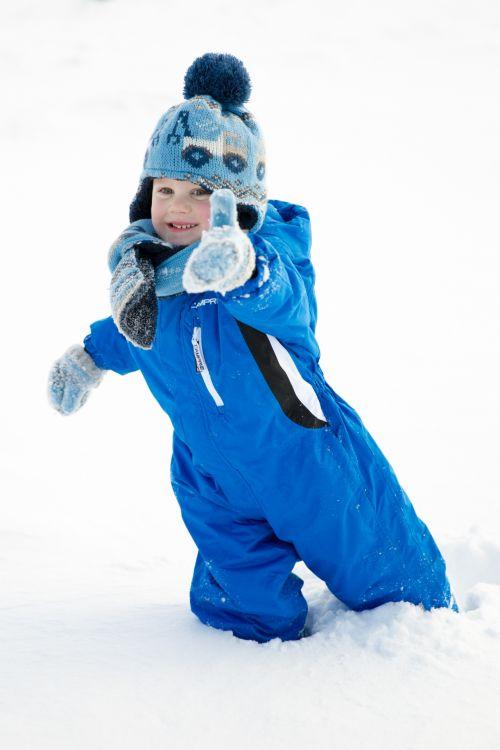 Boy Stuck In Snow