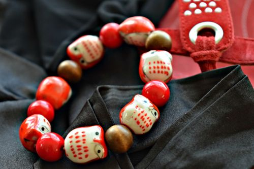 bracelet jewelry red and black