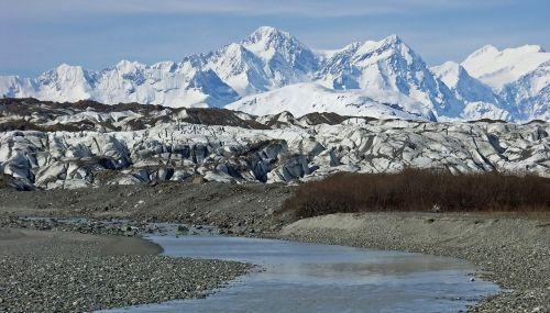 brady glacier ice snow
