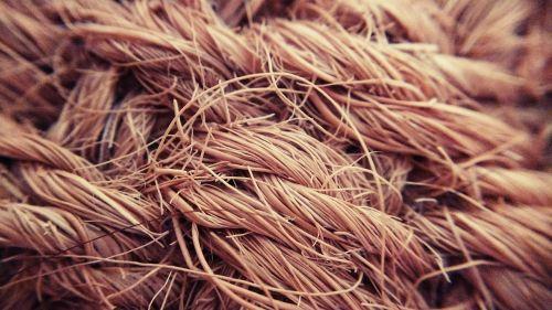 braid of coconut macro stiff cloth