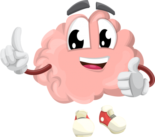 brain,character,organ,smart,eyes,hands,shoes,mouth,smile,happy,mind,think,creativity,education,psychology,mental,memory,learning,science,knowledge,data,university,intelligence,studying,teaching,educate,learn,study,school,children learning,free vector graphics